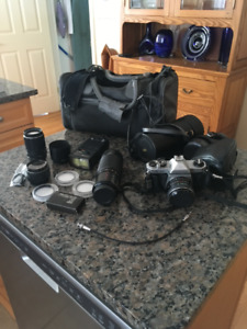 Pentax Camera and accessories for sale, excellent condition.