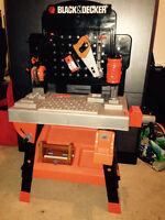 Black and decker tool bench and tool box