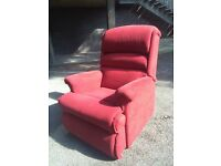 Sherborne Red Electric Reclining Chair in excellent condition