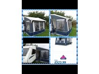 Dorema Quattro 275 porch awning fab condition NAVY plus free ground sheet