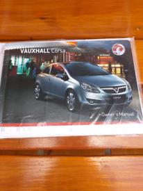 Vauxhall Corsas owners manual