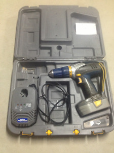 mastercraft cordless drill, charger and case for sale.