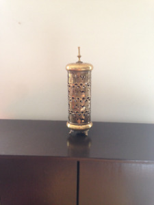 ANTIQUE BRASS ARABIC LAMP/CANDLE HOLDER