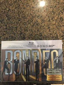 James Bond Limited Edition 22 Disc Blue Ray - Unopened