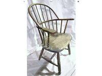 Antique Mid Victorian Stick Back Windsor Chair Oak Armchair Circa.1870