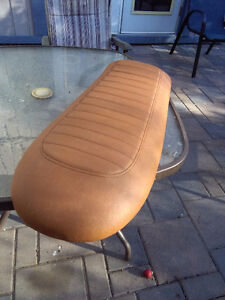 Brand new cafe racer style flat seat