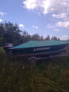 14FT Legend Wide Body Boat with Trailer