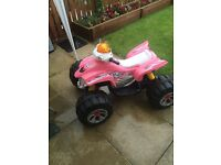 Girls pink electric quad bike
