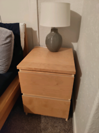 Ikea Malm Bedside Table 2 Drawers