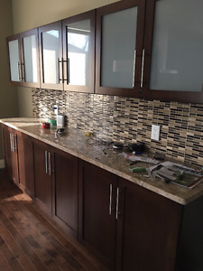 Maple wood, 7 yrs old, Kitchen Cabinetry and Granite counter top