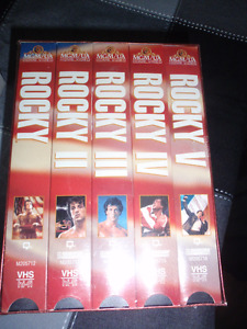 SEALED, ROCKY 1 - 5 VHS MOVIES FOR SALE