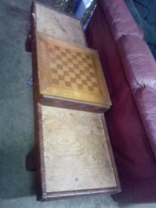 Custom-made chest bench or game table