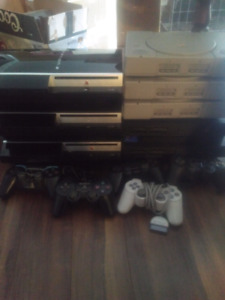 Lot of BROKEN systems 3x ps1, 2x ps2, 3x ps3