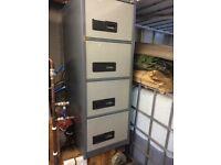 Four drawer metal filing cabinet