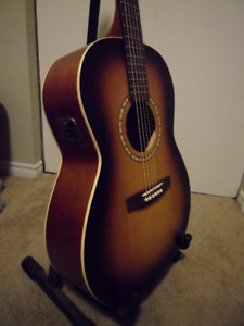 S&P Songsmith Folk Acoustic Electric Guitar with Hard Shell Case