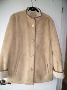 Faux Suede Winter Jacket - Size XL