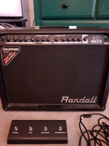 Randall RG75 Tube amp with foot switch