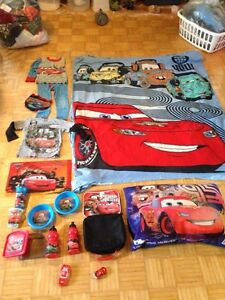 """DISNEY """"CARS"""" MCQUEEN AND MATER LOT OF CHILD ITEMS"""