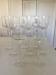 8 Beautiful Glass Candle Holders - Great for party/wedding decor