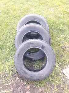 Set of 4 Goodyear Nordic winter tires P155/80R13's