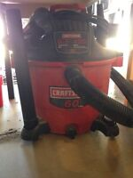 Shop Vac and Work Bench