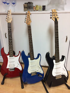 3 Strat Style Electric Guitars for sale $100 each