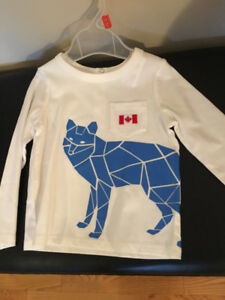 New, Joe Fresh 18/24 Month T-shirt with Canadian Flag Applique