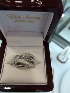 Ladies white gold diamond ring, just want it sold..best offer...