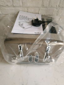 Brand New VonShef Champagne Gold 4 slice toaster