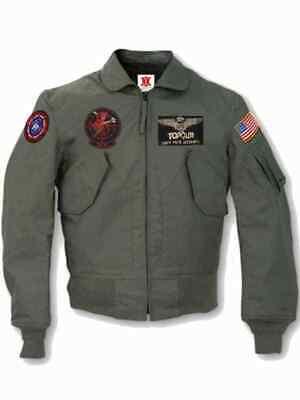 TOP GUN 2 MAVERICK MENS JET PILOT TOM CRUISE FLIGHT BOMBER JACKET - TOP GUN 2
