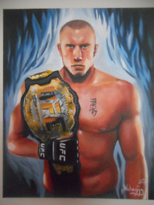 Georges St. Pierre with Belt