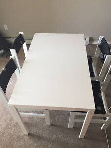 $100 Table and 4 chairs