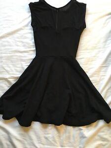 American Apparel black skater dress XS