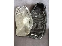 Quinny Zapp cosy toes footmuff and rain cover