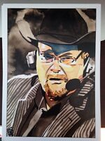 WWE Jim Ross SIGNED Rob Schamberger Print