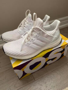 White Caged Adidas Ultraboosts