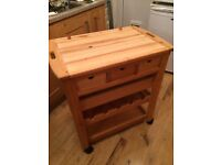 Solid Wood Butcher's Block on wheels