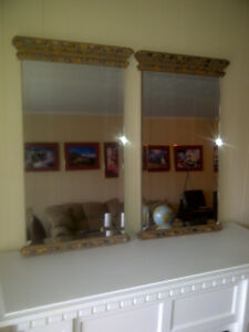 DeBoer's Bevelled and Ornately Framed Traditional Style Mirrors.