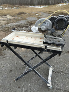 Wet Tile Saw and Stand