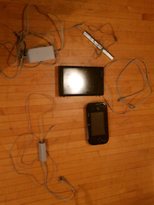 Wii u with 4 games and all hook ups