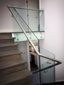Shower glass door and glass railing , glass enclosure,mirror
