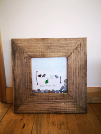 Sea glass and pebble picture
