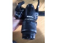 Nikon D3000 with 18-55 lens, very good condition- reduced again!