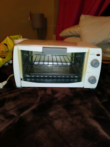 We have a fairly new toaster oven White in color