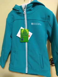 NWT girls size 3-4 mountain warehouse softshell jacket teal