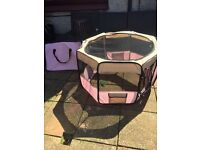 Large Pink Puppy Playpen
