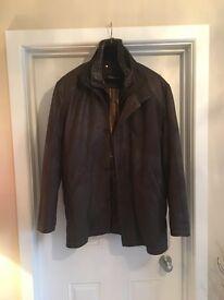Torus mens leather coat.