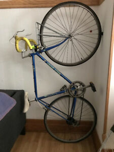 Classic steel frame touring bicycle
