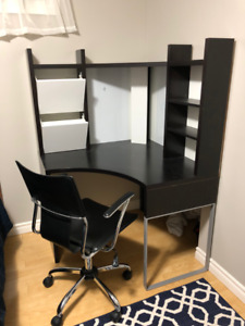 Ikea Corner Work Desk & Office Chair