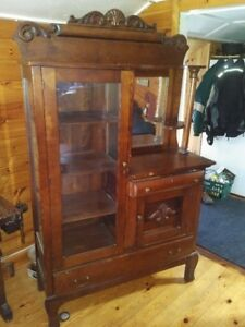 Antique Side by Side Curio or China Cabinet  Circa 1800s